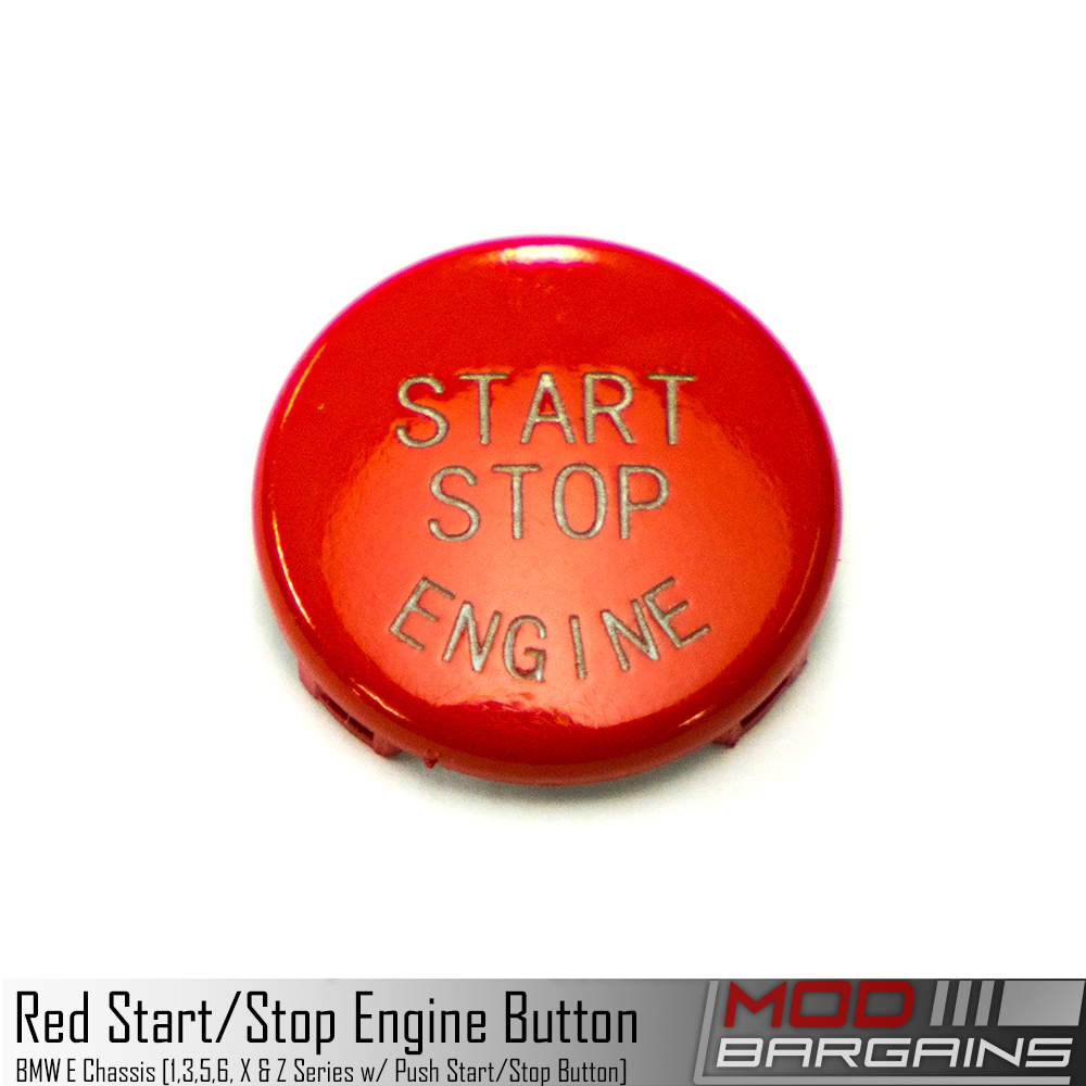 BMW Start Stop Red Button for E Chassis vehicles. E82 E90 E91 E92 E93 E60 E63