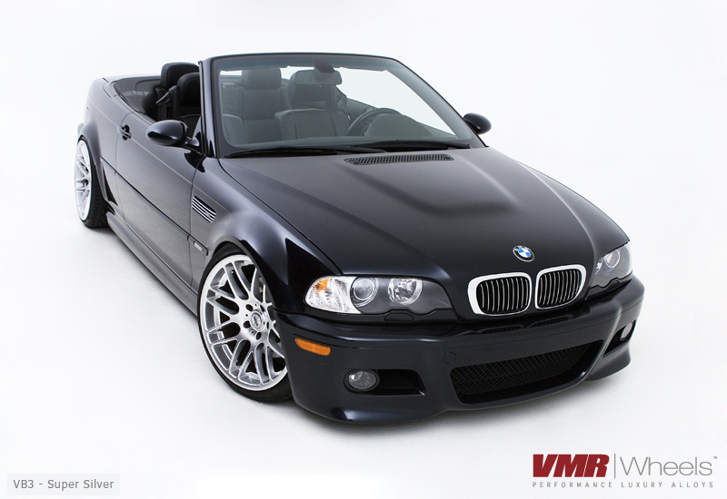 "VMR Wheels VB3 CSL Replica 19"" Silver on E46 M3"
