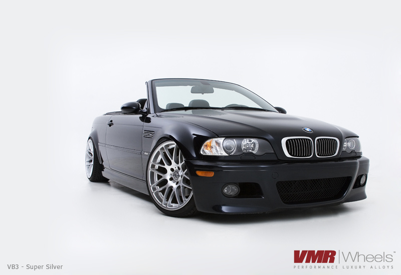 "VMR Wheels VB3 CSL Replica 19"" Silver on black E46 M3"
