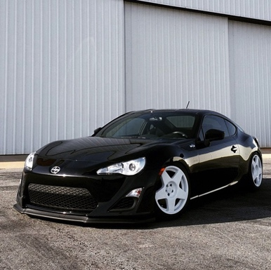 Black Scion FR-S with fifteen52 Tarmac Wheels