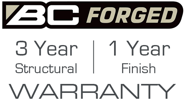 BC Forged Wheels Warranty 3 year structural 1 year finish