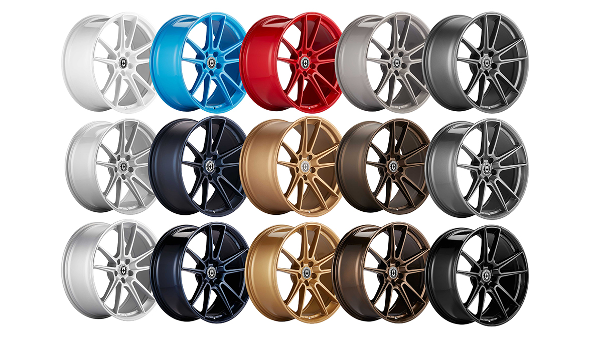 HRE Wheels color options