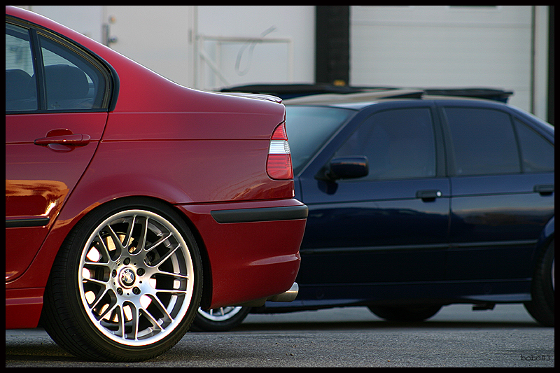 "VMR Wheels VB3 CSL Style 18"" Staggered red 330i"