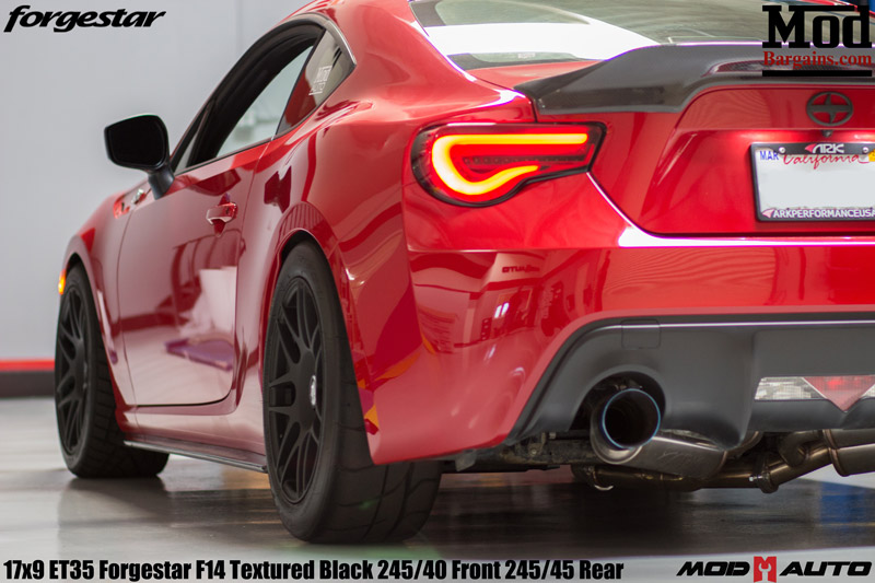 Charles Pages FRS Forgestar wheels Valenti tail Lights smoked with red bar