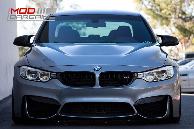 2M Autowerks Carbon Fiber FRP GTS Style Hood With Vent BMW F80 F82 F83 M3 M4 Grey