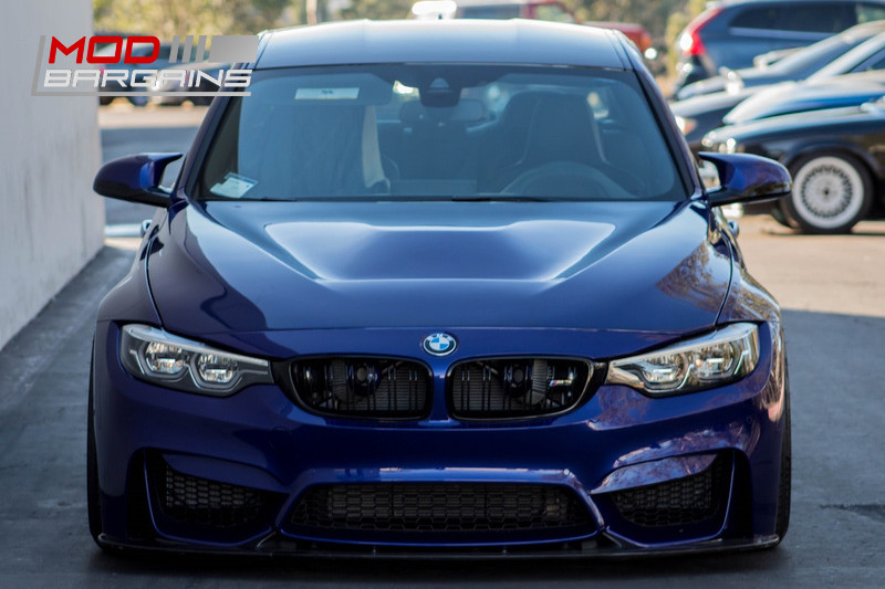 2M Autowerks Carbon Fiber FRP GTS Style Hood With Vent BMW F80 F82 F83 M3 M4 Blue