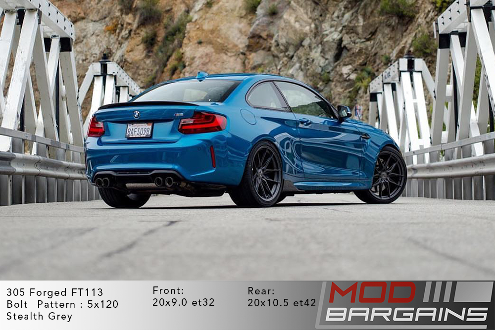 305 Forged wheels FT-113 Wheels  Stealth grey and gloss black stance f80m3 f83m4 f82m4 bmw 5x120 m3 m4 m5 m2 1m  modbargains