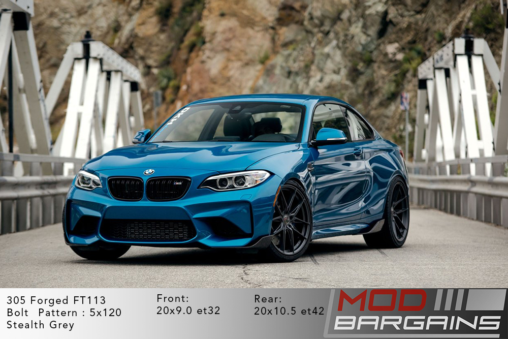 305Forged wheels FT-113 Wheels  Stealth grey and gloss black stance f80m3 f83m4 f82m4 bmw 5x120 m3 m4 m5 m2 1m  modbargains