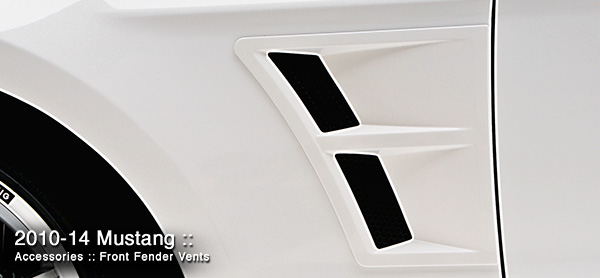3D Carbon Front Fender Vents Ford Mustang
