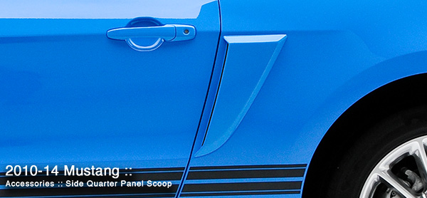 3dCarbon Side Quarter Panel Scoop Mustang