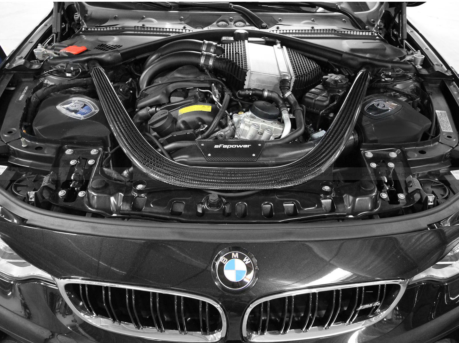 aFe Power 2014+ BMW M3 M4 F80 F82 Momentum Intake for BMW S55 Turbo I6 Engine at ModBargains.com 1