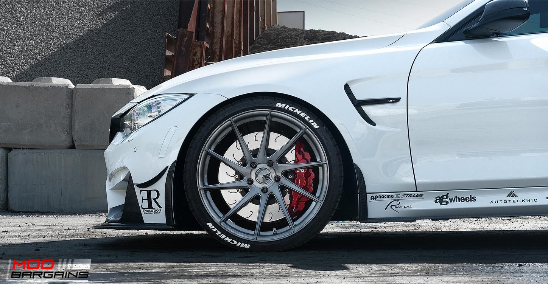 AP Racing Radi-CAL BBK Red Caliper w/ J-Hook Rotor on BMW M4 F82