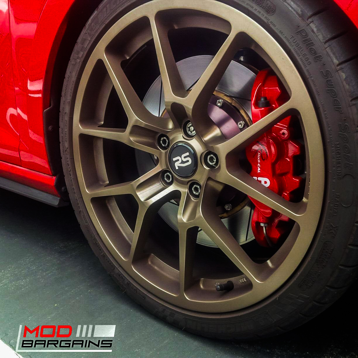 AP Racing Radi-CAL BBK Red Caliper w/ Slotted Rotor - APR34410SR