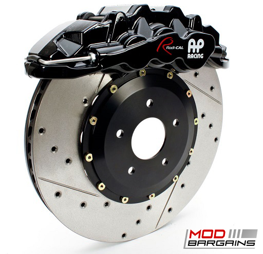 AP Racing Radi-CAL Black Caliper w/ Cross-Drilled & Slotted Rotor - APR34410