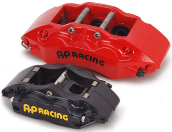 AP Racing Red and Black Calipers