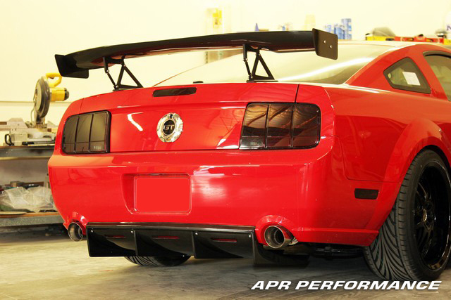 APR Performance Carbon Fiber Rear Diffuser Installed Mustang AB-210019