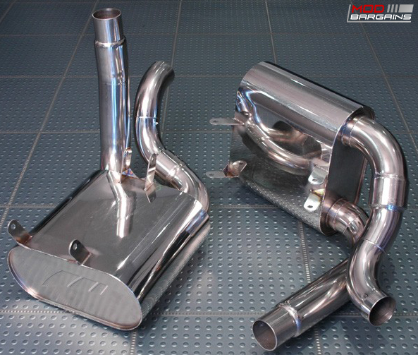 AWE Tuning Performance Mufflers Installed on Porsche 997