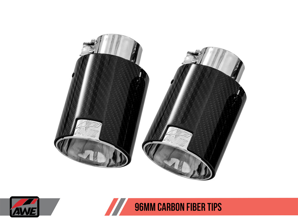 AWE Exhaust Tips 96mm Carbon Fiber Option