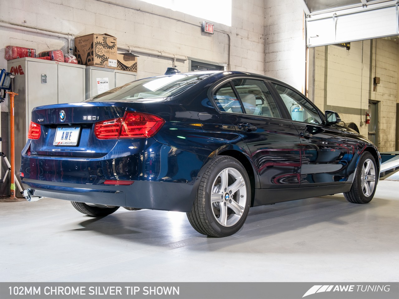 awe tuning cat back exhaust for 2012 16 bmw 320i f30. Black Bedroom Furniture Sets. Home Design Ideas
