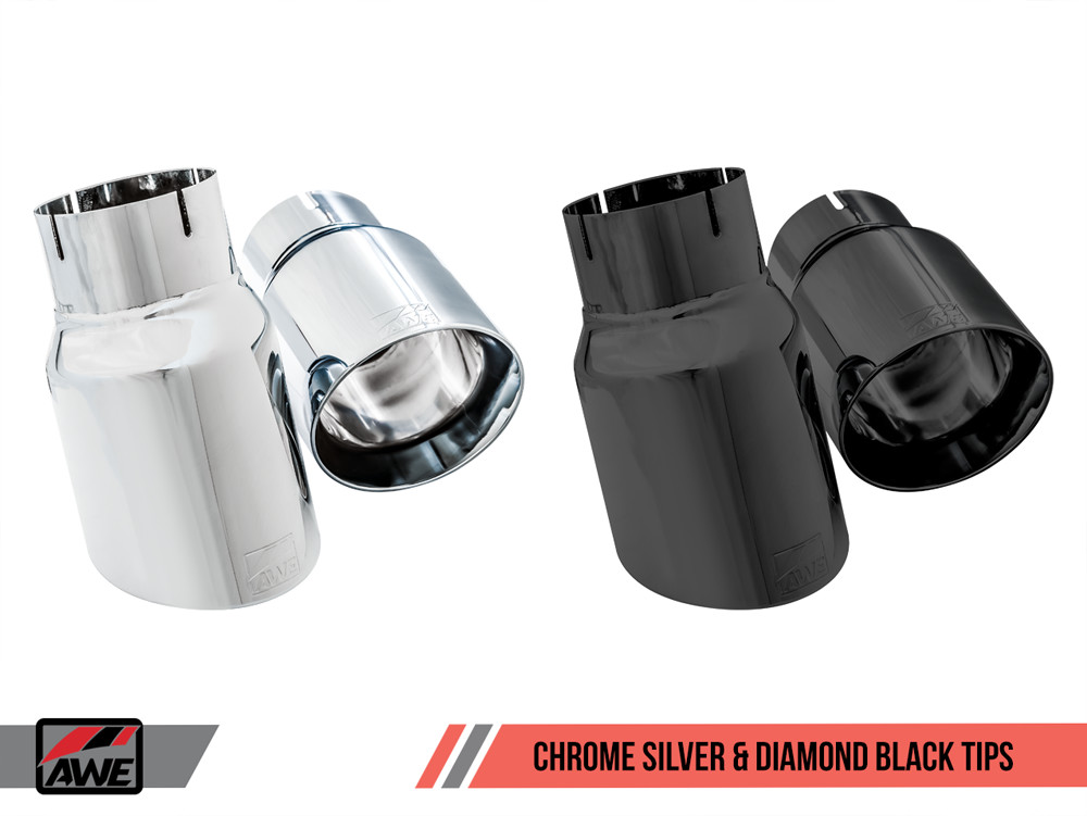 AWE Exhaust Tip Options 2016+ Ford Focus RS Chrome Silver Diamond Black