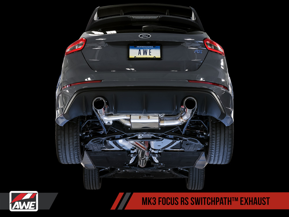 AWE 2016+ Ford Focus RS SwitchPath Edition Catback Exhaust Installed