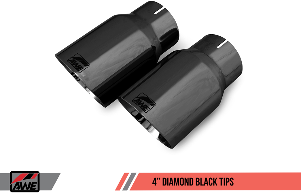 AWE Tuning Diamond Black Exhaust Tips