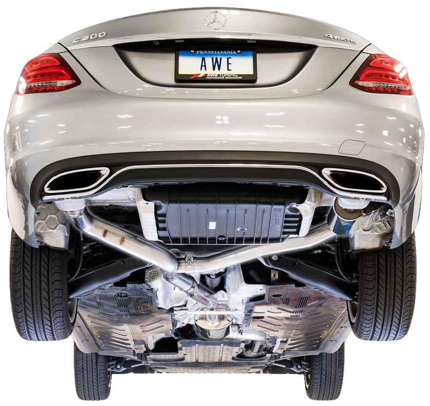 AWE Tuning SwitchPath Exhaust System for Mercedes Benz C300