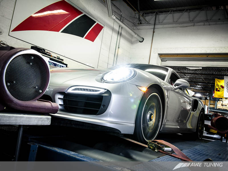 Porsche AWE Tuning Exhaust Dyno Testing