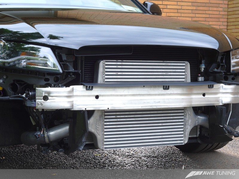 AWE Tuning 2.0T Front Mount Intercooler installed