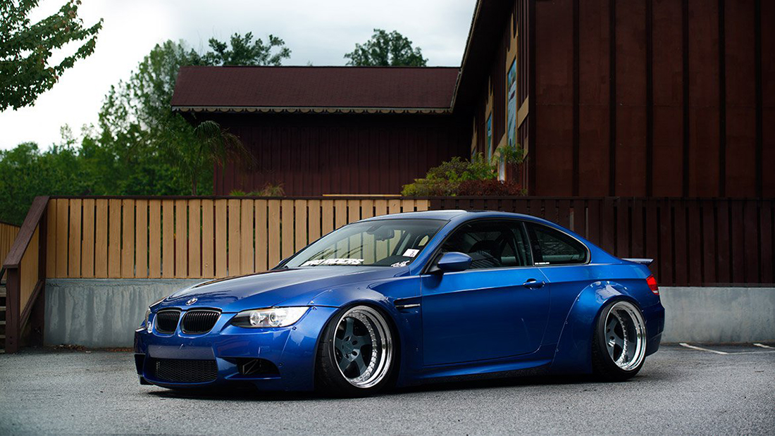 Air Lift Performance Front Kit Installed on BMW E92