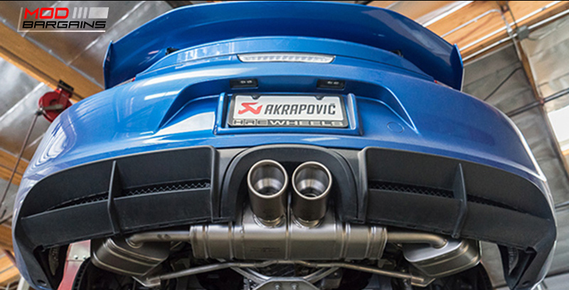 Akrapovic Exhaust System for Porsche Cayman GT4 981