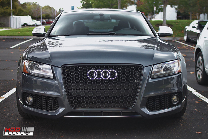 Rs5 Style Fog Lights Grille For B8 Audi S5 A5 S Line