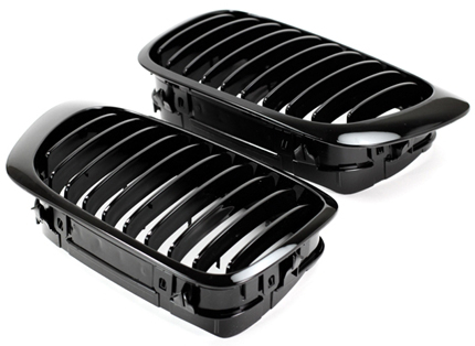 Gloss Black Kidney Grilles for BMW 3-Series/M3 E46