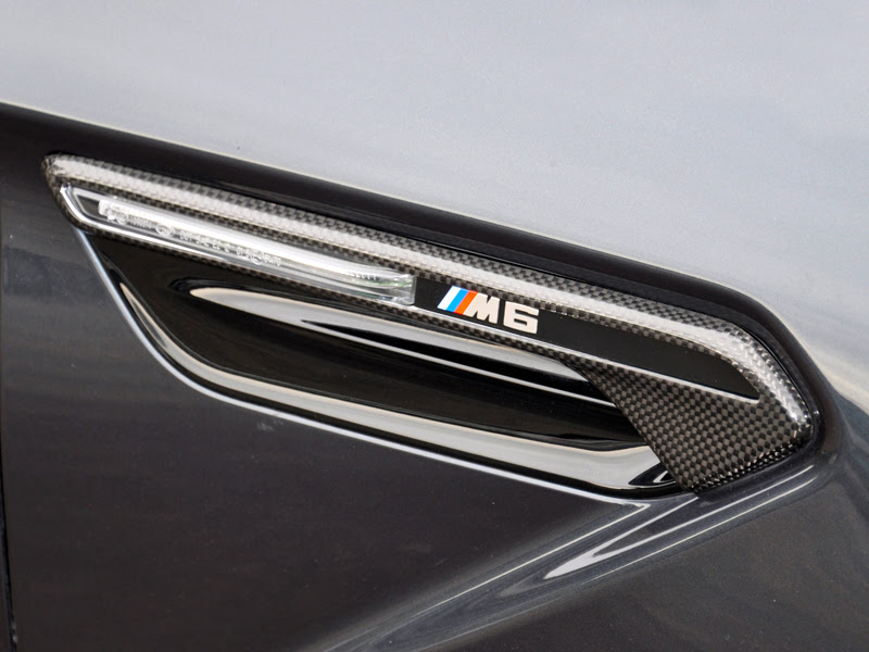 AutoTecknic Carbon Fiber Fender Light Trim Cover for BMW M6