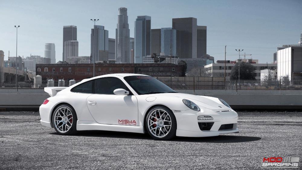 Avant Garde Ruger Mesh Wheels Liquid Silver on Porsche