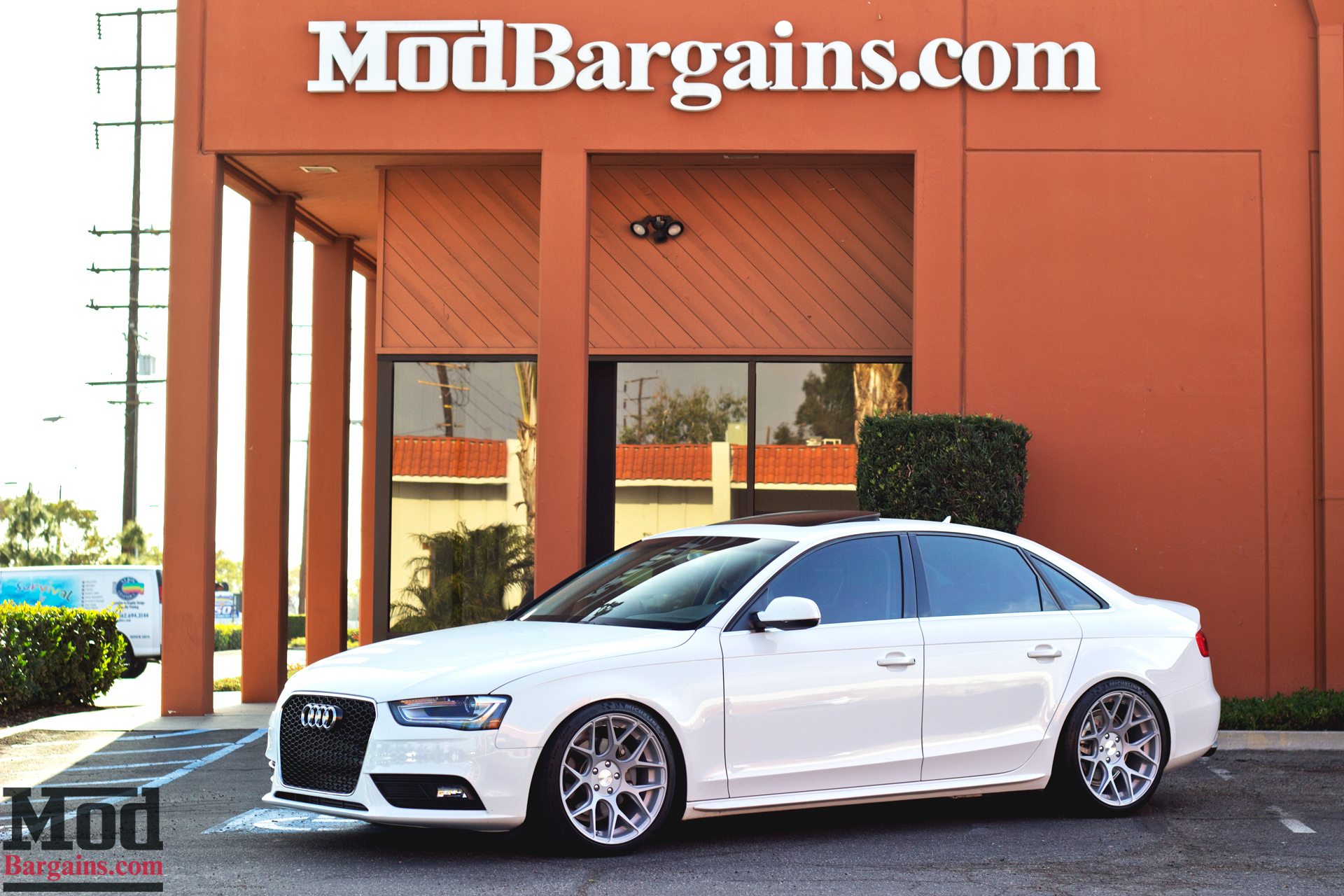 Avant Garde M590 Wheels for Audi B8 A4 5x112mm Satin Silver Installed 1