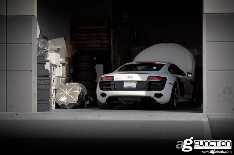 Avant Garde F310 Wheels Audi R8 in Garage