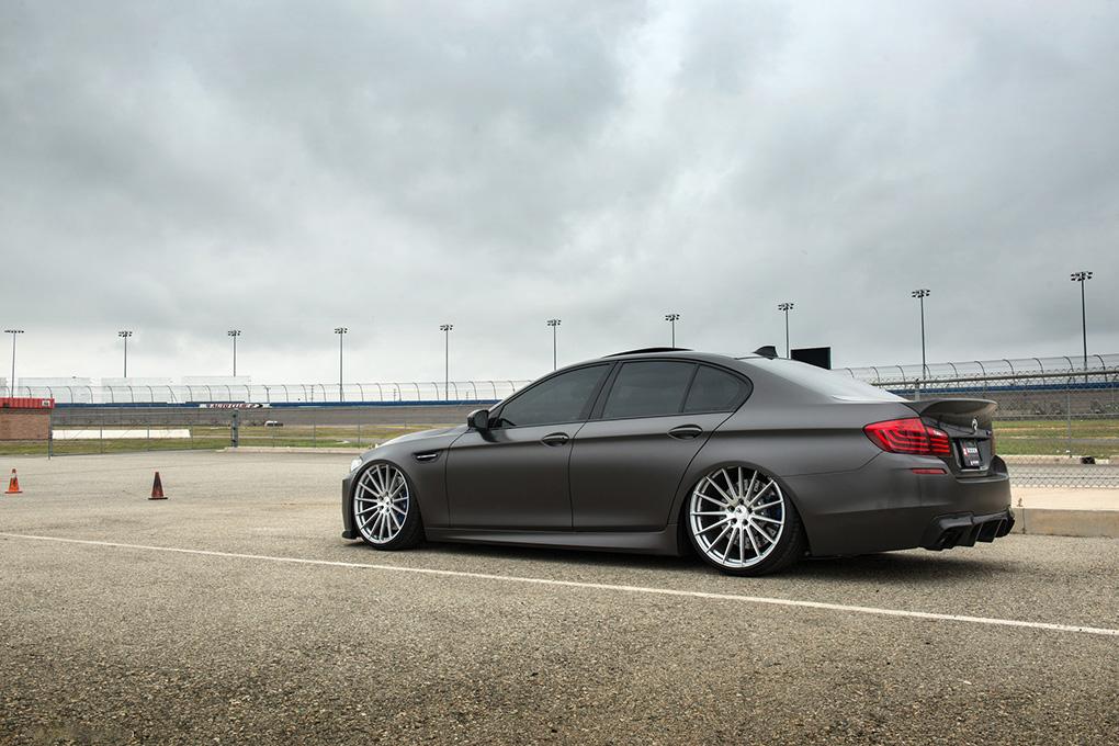 Avant Garde M615 Machine Silver on BMW F10 M5 (2)