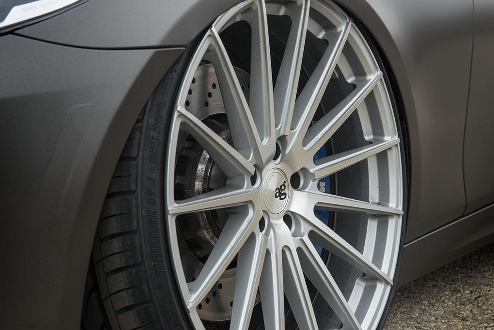 Avant Garde M615 Machine Silver on BMW F10 M5 (4)