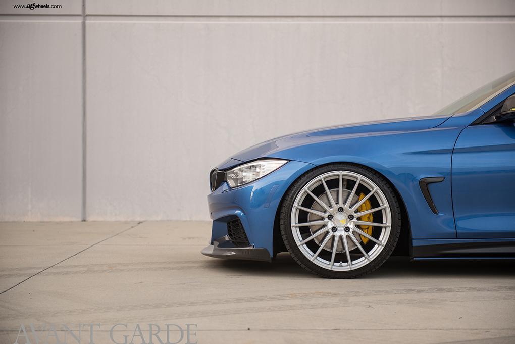 Avant Garde M615 Machine Silver on BMW F32 435i (2)