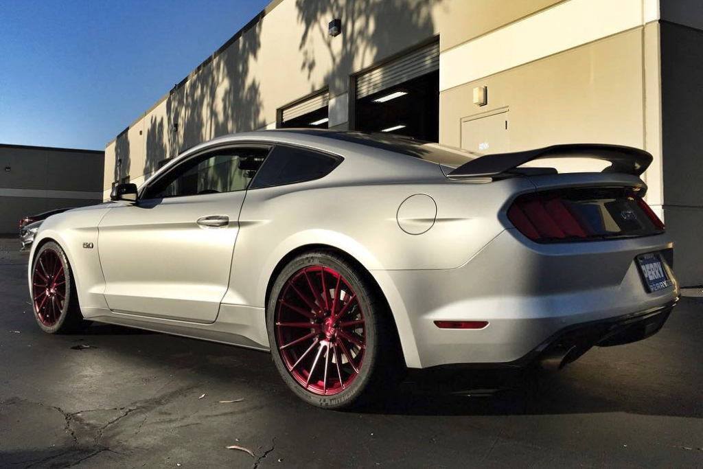 Avant Garde M615 Matte Brushed Black Cherry on Ford Mustang GT