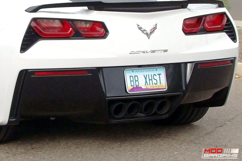 Billy Boat PRT Exhaust w/ Round Tips Installed on Corvette C7 Stingray