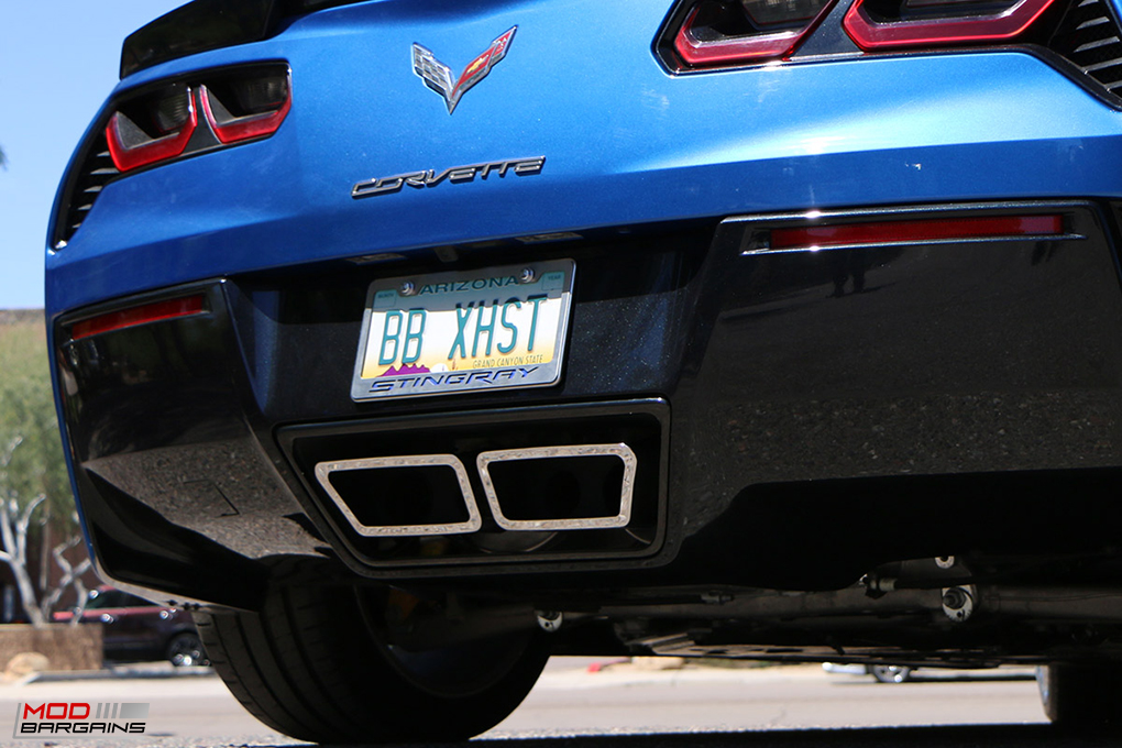 Billy Boat PRT Exhaust w/ Speedway Tips Installed on Corvette C7 Stingray