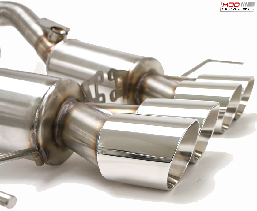 Billy Boat Bullet Exhaust w/ Round Tips Close Up for 2014-2016 Corvette C7