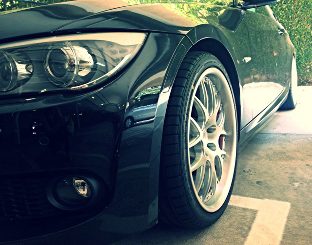 BC Racing Wheels FJ04 Installed on E92 Front View