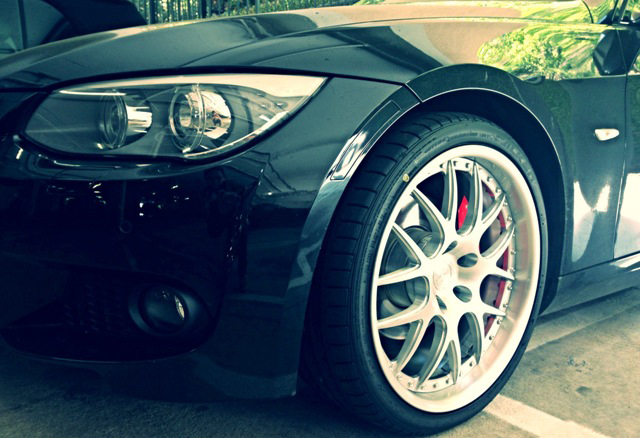 BC Racing Wheels FJ04 Installed on E92