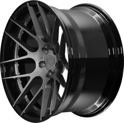 BC Racing Wheels HB 04 Gloss Black Drum Gunmetal Face