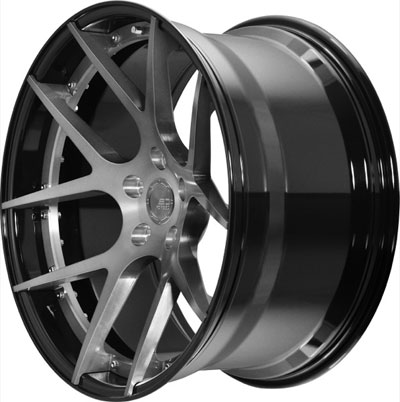BC Racing Wheels HB 05 Gloss Black Drum Brushed Black Face