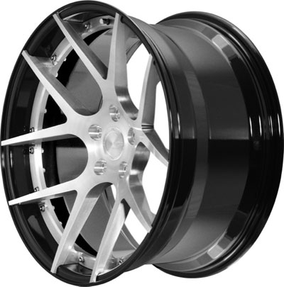 BC Racing Wheels HB 05 Gloss Black Drum Brushed Face