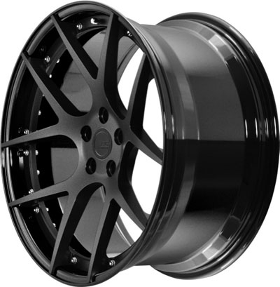BC Racing Wheels HB 05 Gloss Black Drum Matte Black Face